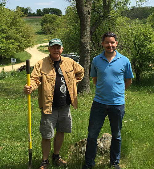 Ron Schell (l) and Tim Flores (r) are our Food Pantry Garden Co-Coordinators
